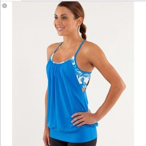 Lululemon No Limits Tank Beaming Blue Sz 6
